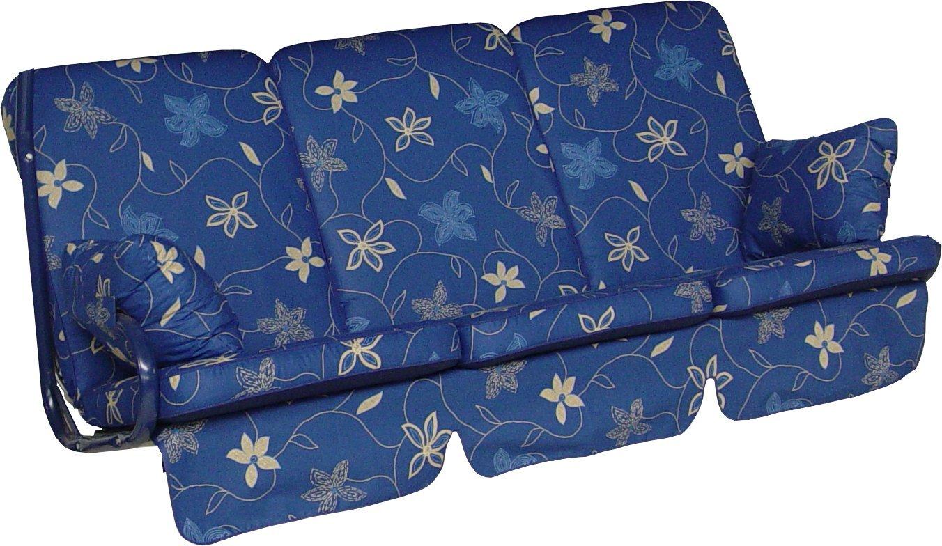 Angerer Hawaii Schaukelauflage Korfu, Blau, 3-Sitzer