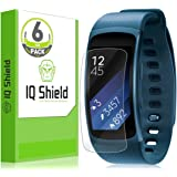 Samsung Gear Fit2 Screen Protector, IQ Shield LiQuidSkin (6-Pack) Full Coverage Screen Protector for Samsung Gear Fit2 (Gear Fit 2) HD Clear Anti-Bubble Film - with