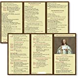 Mass Prayer and Responses Laminated Cardstock Pocket Card, Pack of 5