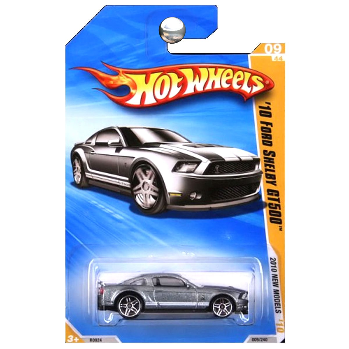 Amazon com hot wheels 2010 new models ford mustang shelby gt500 gt 500 grey silver toys games