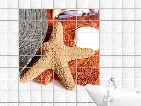 Piastrelle adesivo piastrelle foto a forma di stella marina