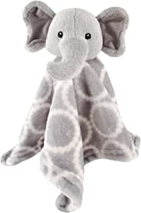 Hudson Baby Velboa Security Blanket, Gray Elephant