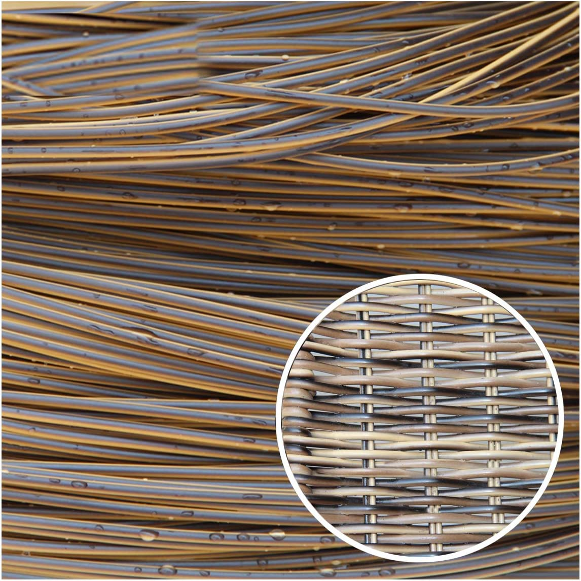 Wuweihome 32.8 ft(10m) Synthetic Circle Rattan Polyethylene Plastic Round Rattan Woven for Handmade Repair Fix Wicker Chair Knit, Rattan Table Wicker Furniture, Basket Weaving, DIY Crafts, Tricolor