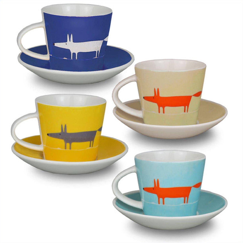 scion mr fox set of  espresso cup and saucers  multi amazonco  - scion mr fox set of  espresso cup and saucers  multi amazoncoukkitchen  home
