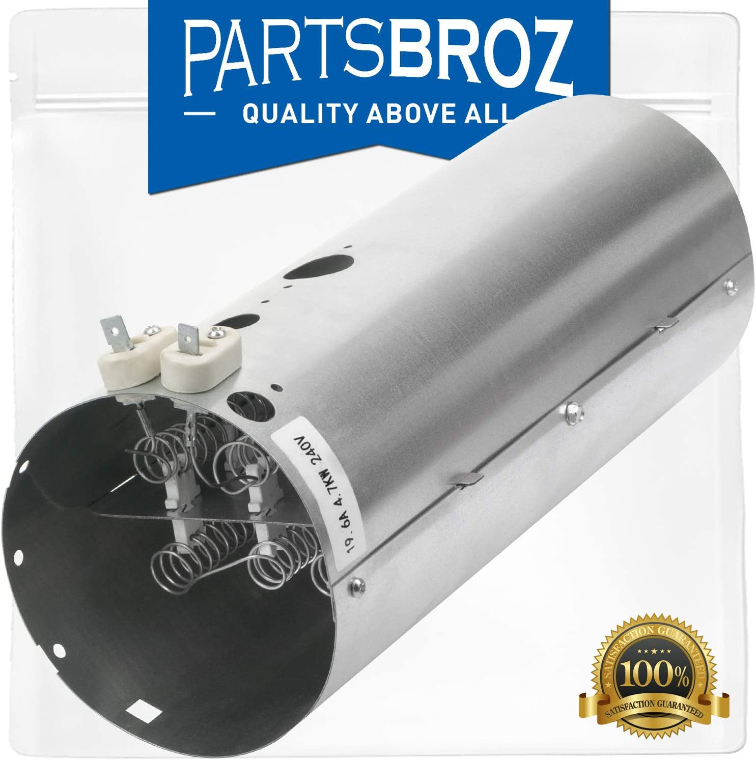 137114000 Heating Element Assembly by PartsBroz for Frigidaire & Electrolux Dryers - Replaces Part Numbers AP4456656, 1531129, AH2367792, EA2367792, PS2367792