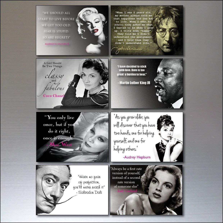 8 Inspirational Quotes Vintage Fridge Magnets No.1
