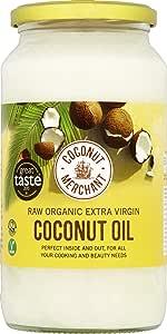 1L x2 Aceite de coco orgánico Coconut Merchant   Aceite Virgen Extra, Crudo, prensado en frío, sin refinar  Producido de forma ética, Vegano, Dieta Keto y 100% Natural  Para el pelo, la piel y Cocina