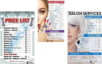Amazon.com: Barber Shop Posters | Salon Posters in a Combo ...