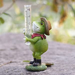 Aivanart Frog Rain Gauge Garden Decor for Outside, Decorative Sculptures Statues for Yard Patio Lawn Garden Ornaments Rain Catcher Decorations