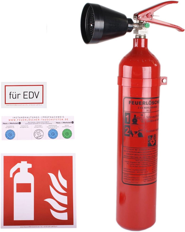 Co Feuerlöscher 2 Kg Schneerohr Gs 2x Mit Instandhaltungsnachweis Von Hausundwerkstatt24 Baumarkt