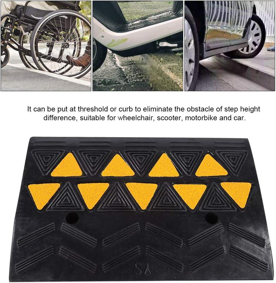 2 Pezzi Rampa di Accesso in Gomma SOULONG Gomma rampa Heavy Duty Gomma marciapiede Rampe per Auto Caravan Sedia a rotelle disabili Acces