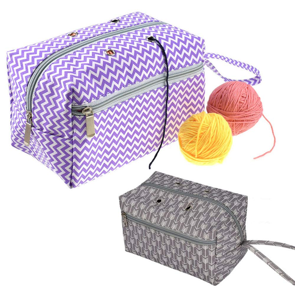 CHXIHome Yarn Storage Tote,Crochet Yarn Storage Bag Organizer with Divider for Crocheting /& Knitting Supplies Portable Handmade Sewing Supplies Storage