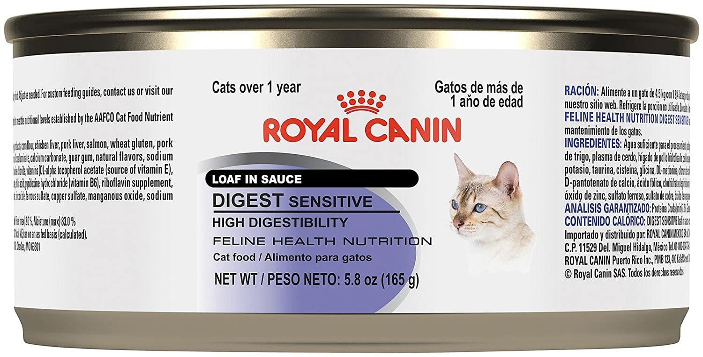 Amazon.com : Royal Canin Feline Health Nutrition Loaf in Sauce - Sensitive Digest - Pork - 5.8 Ounce - 24 Count : Pet Supplies