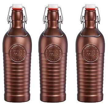 Bormioli Rocco Officina 1825 Vintage Botella de vidrio con tapa abatible 1200ml - bronce - 3