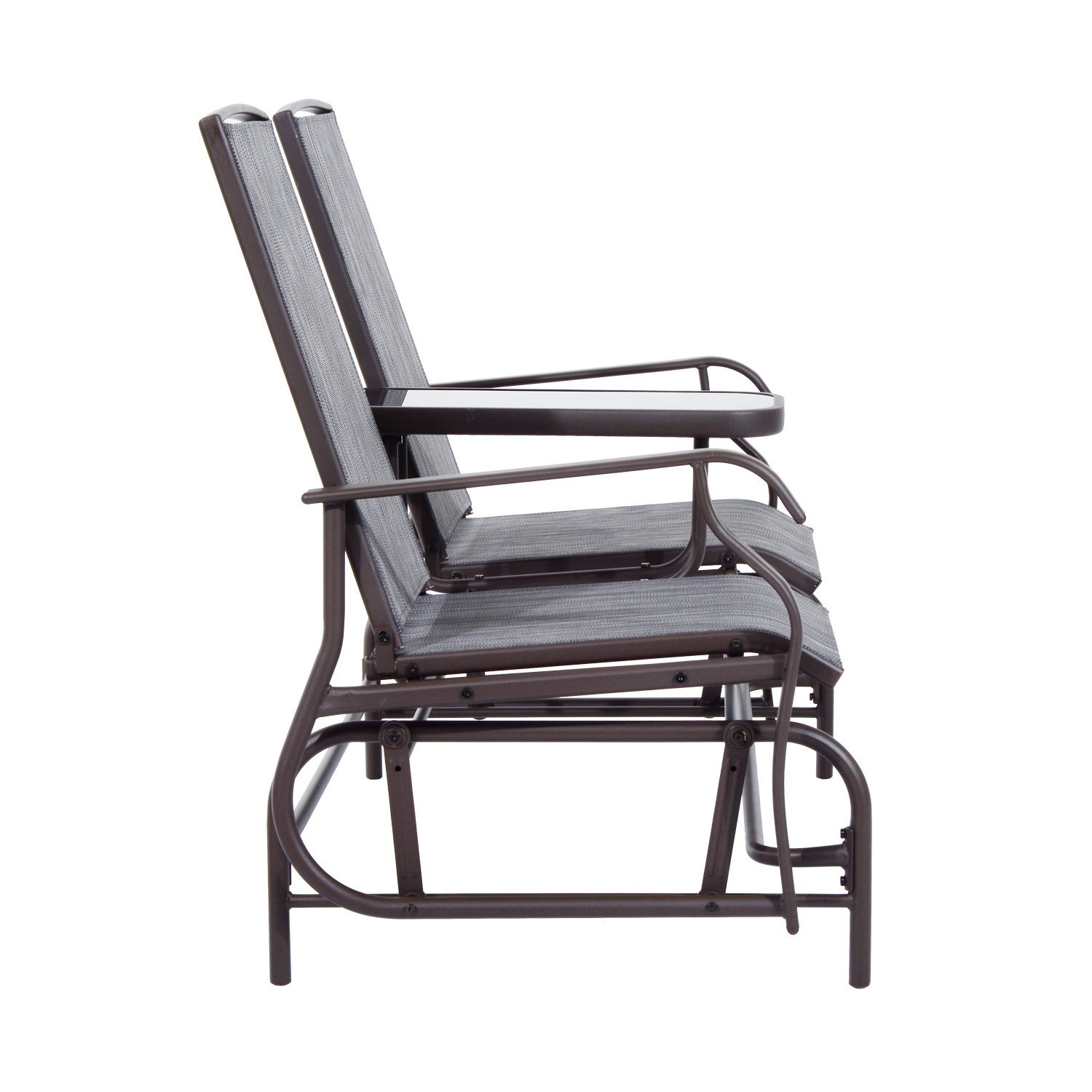 Outsunny Metal Double Swing Chair Glider Rocking Chair Seat