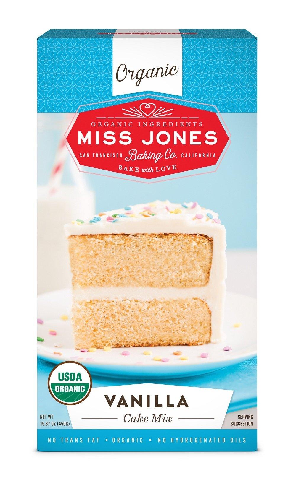 Miss Jones Baking Organic Cake Mix, Vanilla (Pack of 3)