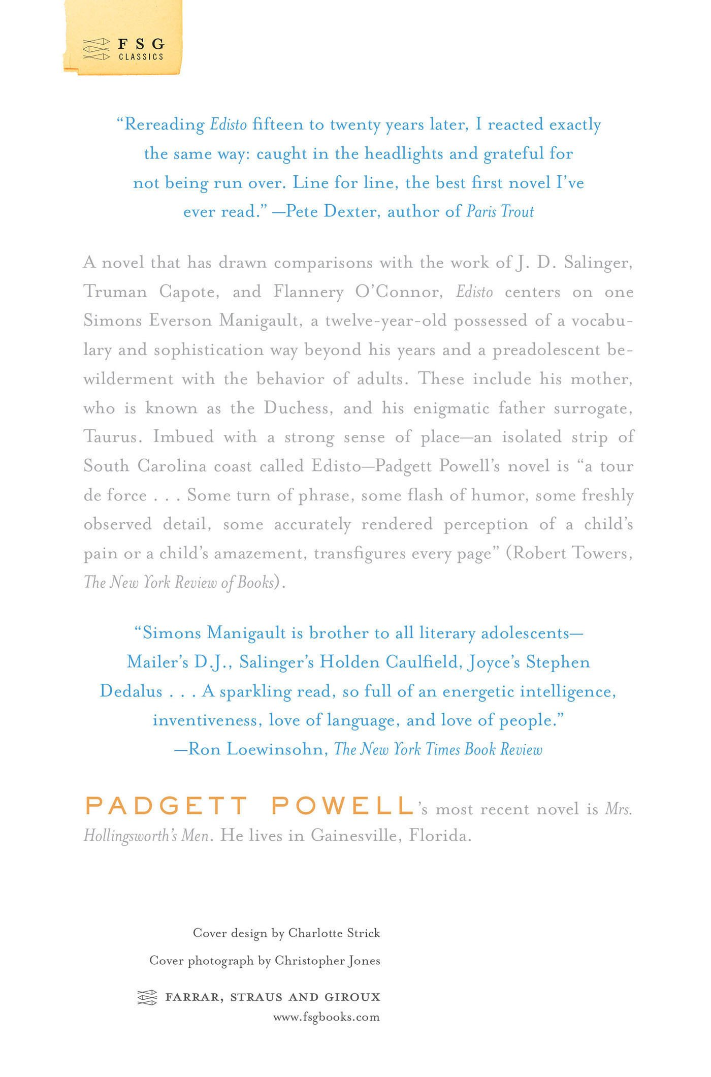 Edisto: A Novel (fsg Classics): Padgett Powell: 9780374531683: Amazon:  Books
