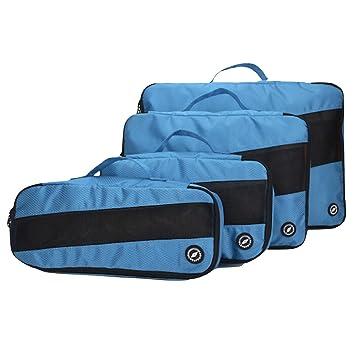 4 Organizadores para Maletas De Viaje 26 L, Azul-Negro: Amazon.es: Equipaje