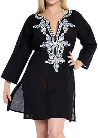 0b70509b415 LA LEELA Beach Cover ups Dresses Swimsuit Blouse Caftan Bikini Bathing  Resortwear Gifts Kaftan Tops Tunic