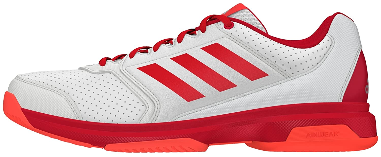 new york dd02a f0928 Amazon.com adidas Adizero Attack Scarpa Tennis Donna Bianco Rosso Shoes