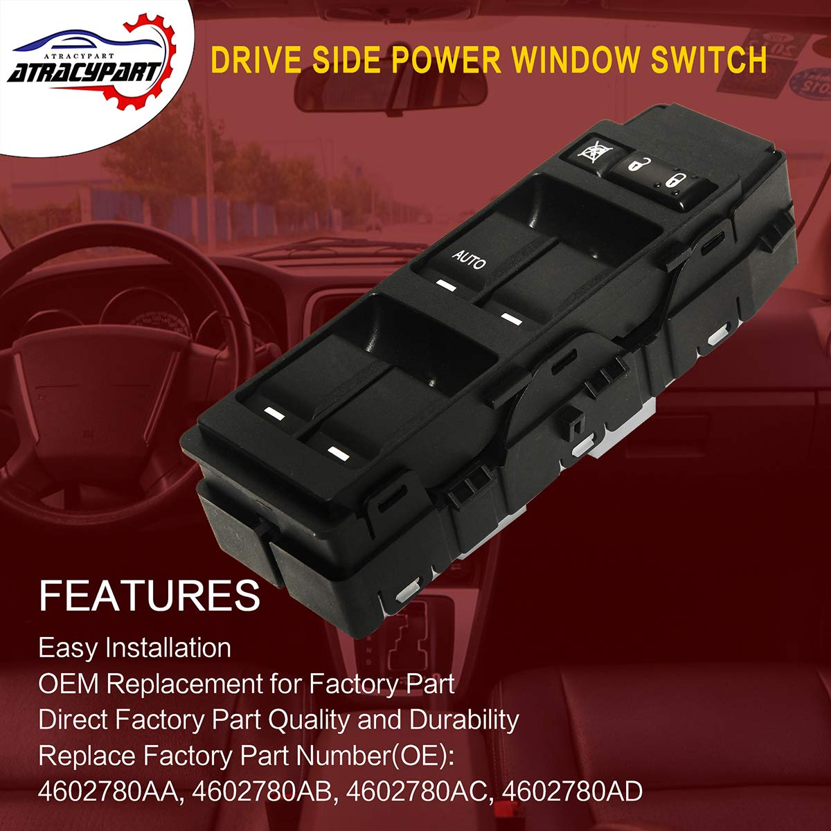 Master Power Window Switch Front Left Driver Side