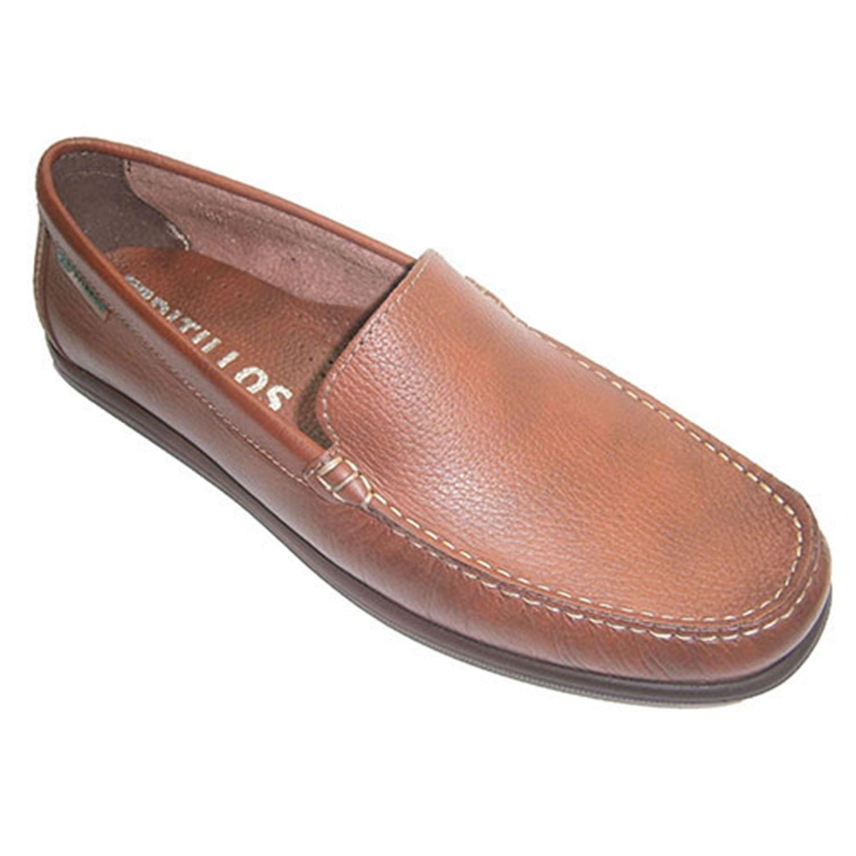 PITILLOS Zapato Tipo Mocasín Pala Lisa EN Marrón Medio 41 EU