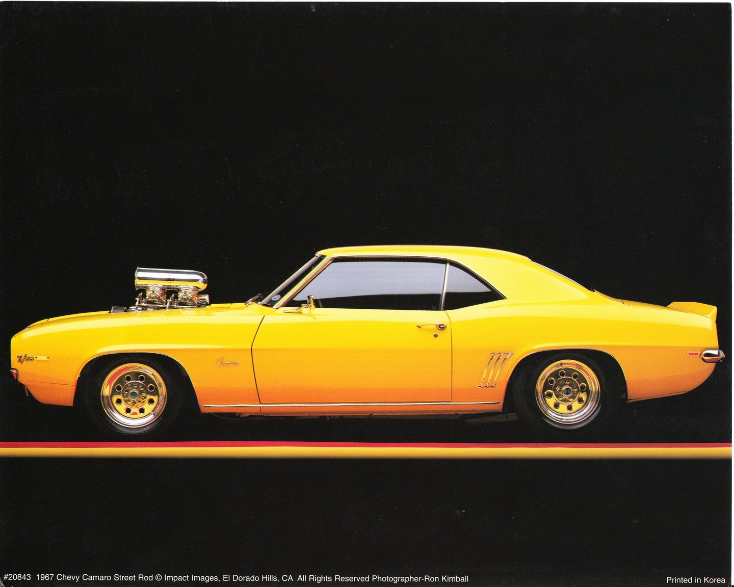 Amazon.com: 1967 Chevy Camaro Poster Street Rod Vintage Car Art ...