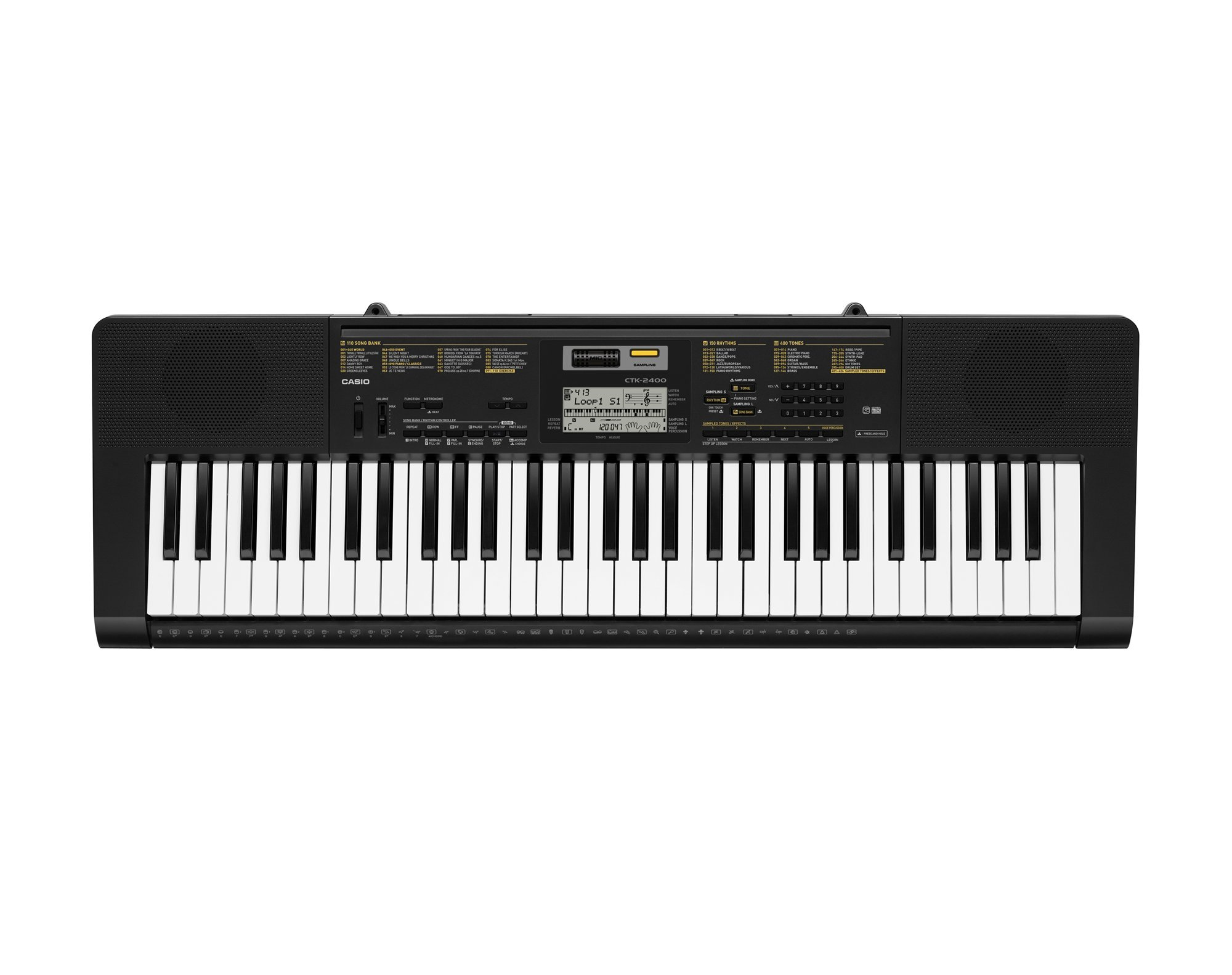 Casio CTK2400 61- Key Portable Keyboard with USB by Casio