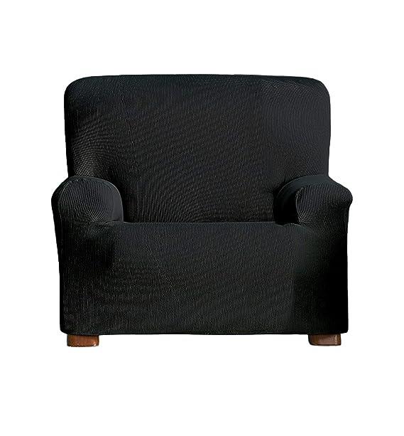 ADP Home - Funda/Protector de Sofá de Alta Elasticidad de 1 Plaza (Medida de 70 a 110 cm), Negro