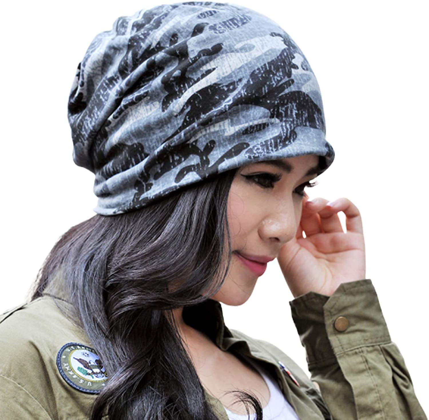 Cotton Fashion Beanies Chemo Caps Cancer Headwear Skull Cap Knitted hat Scarf for Women (2pack-d) at  Women's Clothing store