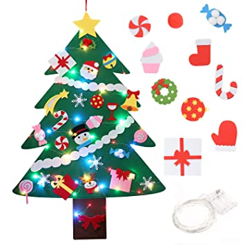 Amazon.com FunPa Felt Christmas Tree Set Decorative DIY