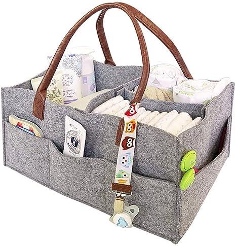 Caja de almacenaje plegable de pañales bebé, bebé pañal Caddy pépinière bolsa de almacenaje para niños juguete ropa baberos bebé Toallitas: Amazon.es: Bebé