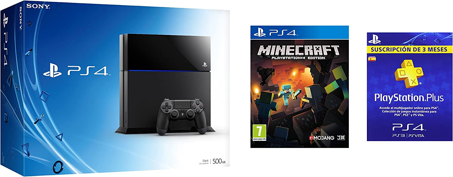PS4 + Minecraft + 3 meses PlayStation Plus: Amazon.es: Videojuegos