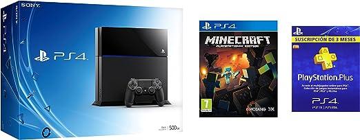 PS4 + Minecraft + 3 meses PlayStation Plus: Amazon.es: Videojuegos