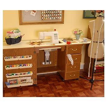 Norma Jean Wooden Sewing Table Desk Finish: Oak