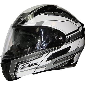 ZOX Condor SVS adulto Delta calle casco de moto, color plateado, color plata,