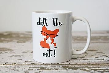 Amazon Chill The Fox Out Coffee Mug