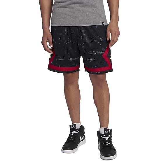 d4b427039bc0b1 Jordan Shorts - Sportswear Last Shot Diamond Mesh Black red Yellow Size  XXL  (XX-Large)  Amazon.co.uk  Clothing