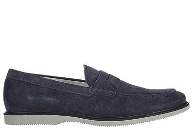 Men's Suede Loafers Moccasins Club Blu
