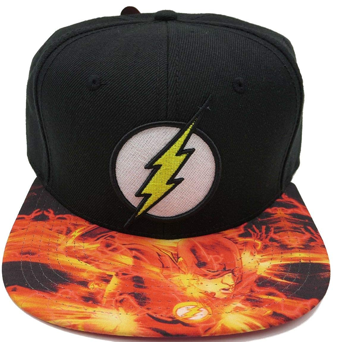 DC Comics The Flash Lightning Logo Sublimated Bill Snapback Baseball Cap BIOWORLD 00_QOPMZBSF_02