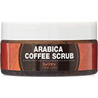 Arabica Coffee Scrub - Best Skin Exfoliator for Face Hand & Body for Skin Care Acne Eczema Exfoliate Moisturize, Stretch Marks Scar Wrinkles Spider Veins