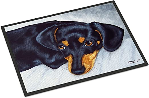 Carolines Treasures Tub for Two with Poodle and Pug Floor Mat 19 x 27 Multicolor
