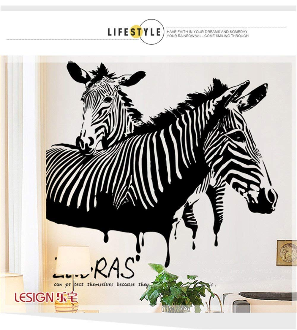 Decorate Your Home Personalized and Stylish Living Room Study Room Sofa tv Wall Sticker Creative bar ktv Simple Zebra Wall Posters