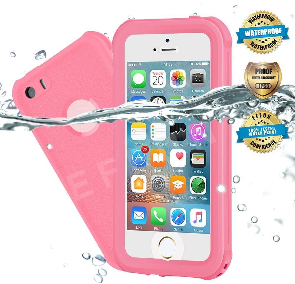 EFFUN Funda impermeable para iPhone 5/5S/SE, IP68, resistente al ...