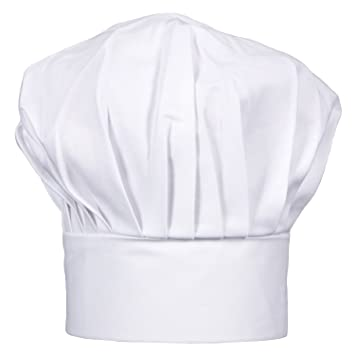VAPSINT® Poly Cotton Adjustable White Chef Hat 355a0aa8835