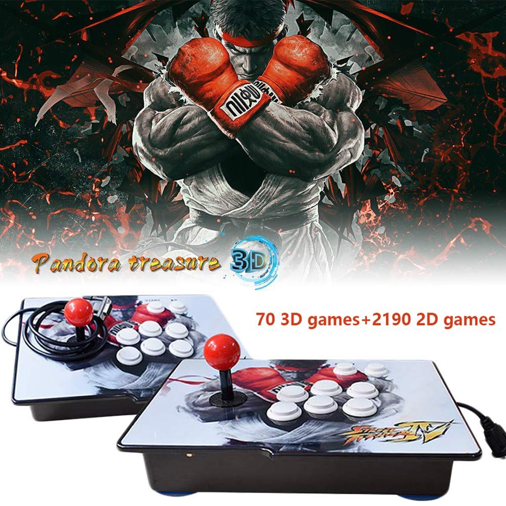 PinPle Arcade Game Console 1080P 3D & 2D Games 2260 2 in 1 Pandora's Box 3D 2 Players Arcade Machine with Arcade Joystick Support Expand Games for PC / Laptop / TV / PS4 (Pandora's Box)