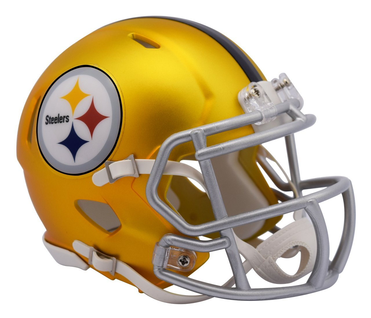 Pittsburgh Steelers - Blaze Alternate Speed Riddell Mini Football Helmet - New in Riddell Box