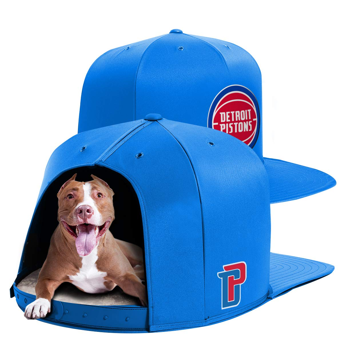 NAP CAP NBA Detroit Pistons Team Indoor Pet Bed, Blue (Large)