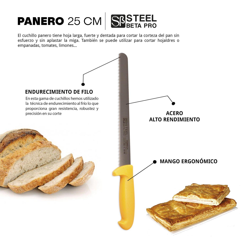 Cuchillo panero profesional 25 cm - STEEL βPRO