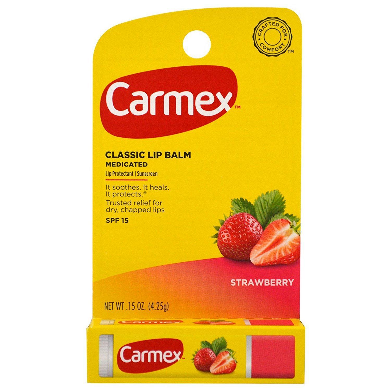 Carmex Click-Stick Moisturizing SPF15 Lip Balm - Strawberry (Pack of 6) Carma Laboratories Inc